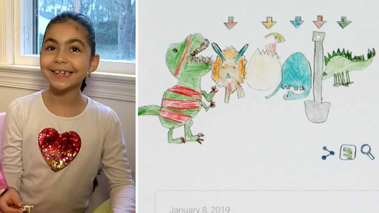 Girl, 6, Wins Doodle For Google Contest With Adorable