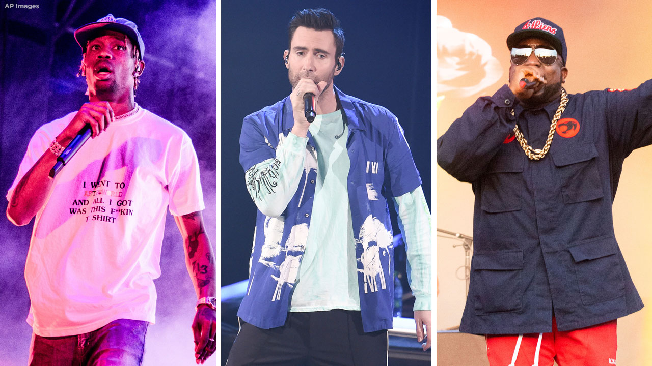 Maroon 5, Big Boi and Travis Scott will perform at this years Super Bowl halftime show in Atlanta.