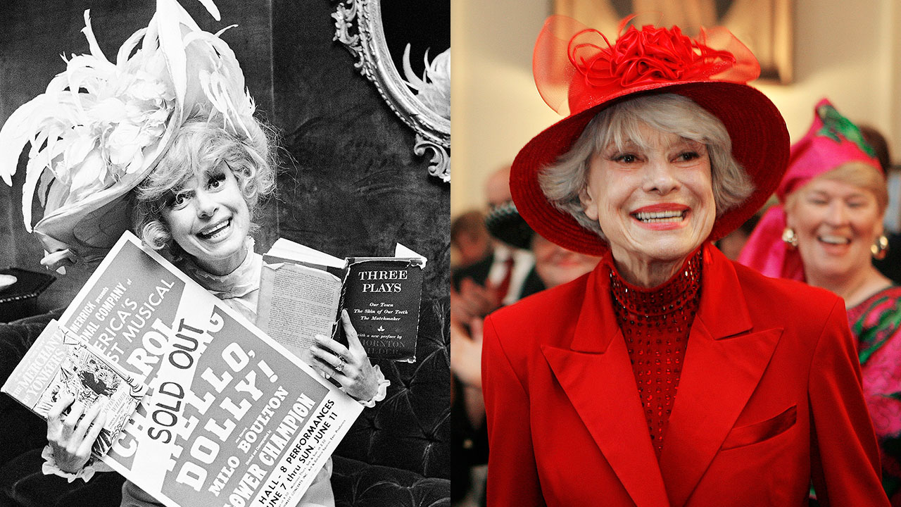 Carol Channing is shown in 1967 (left) and 2007 (right). The Broadway legend passed away on Jan. 15, 2019 at age 97, her publicist said.