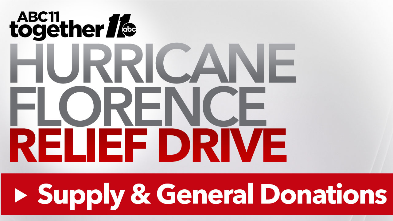 How to donate supplies and other items to help Florence victims