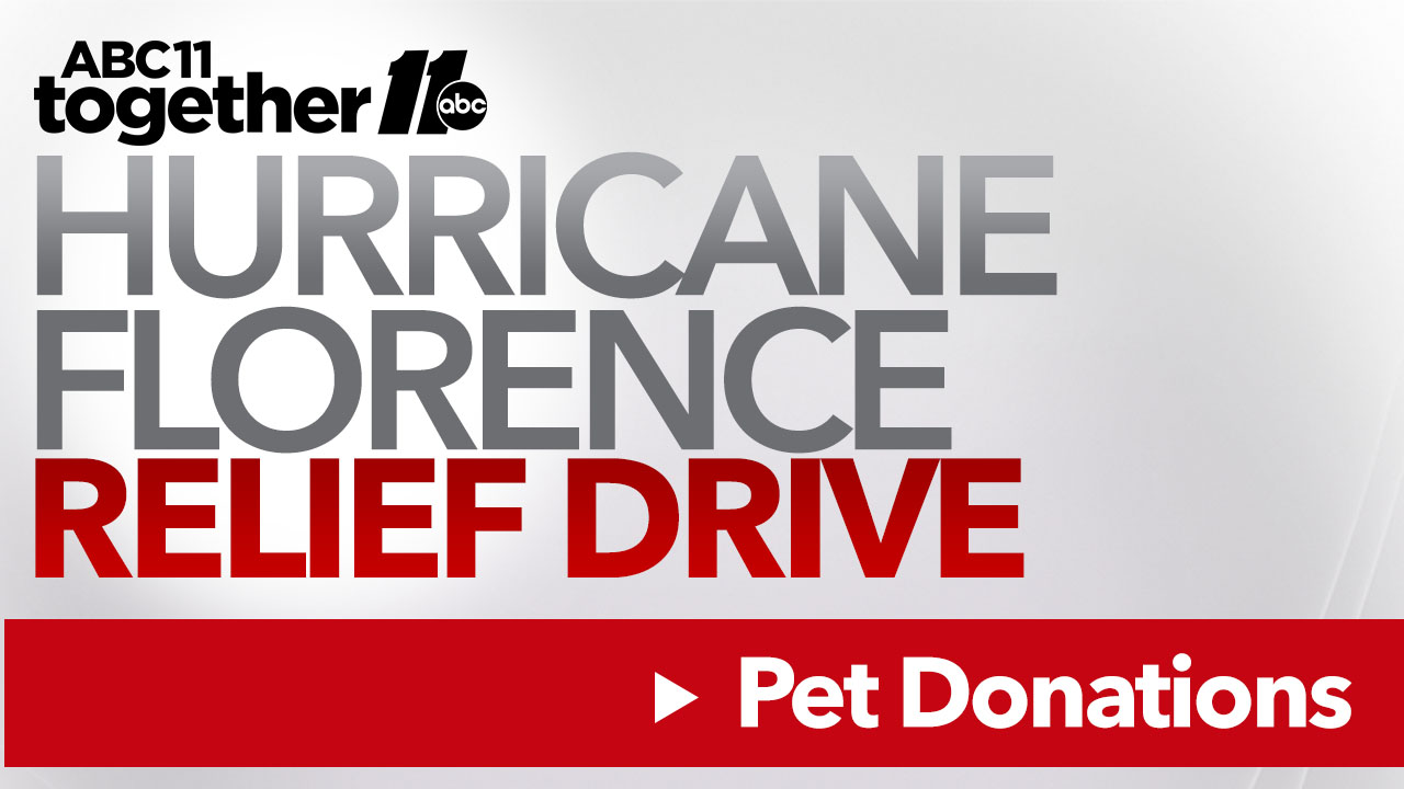 Donations needed for animals displaced by Hurricane Florence