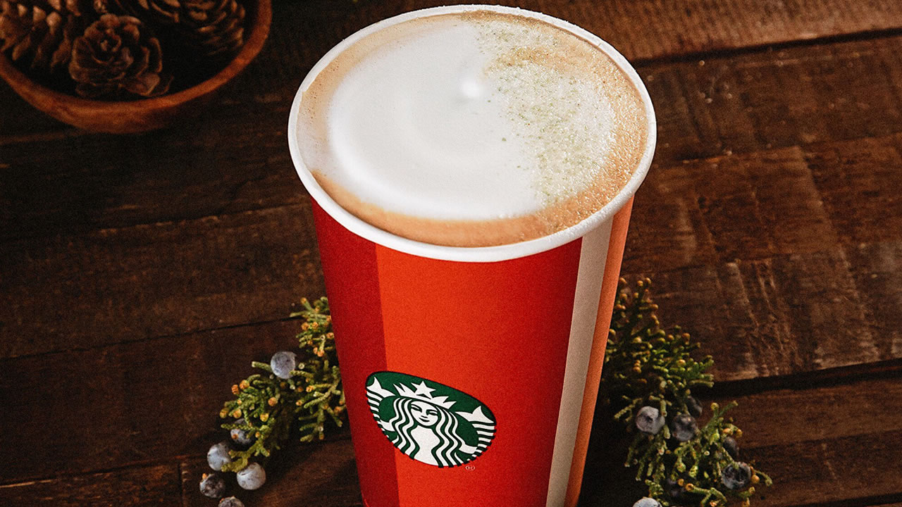 This undated image shows Starbucks new Juniper Latte.