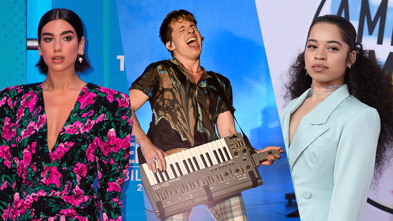 Dua Lipa (left), Charlie Puth (center) and Ella Mai (right) will all be performing in Hollywood for the big celebration ringing in 2019.