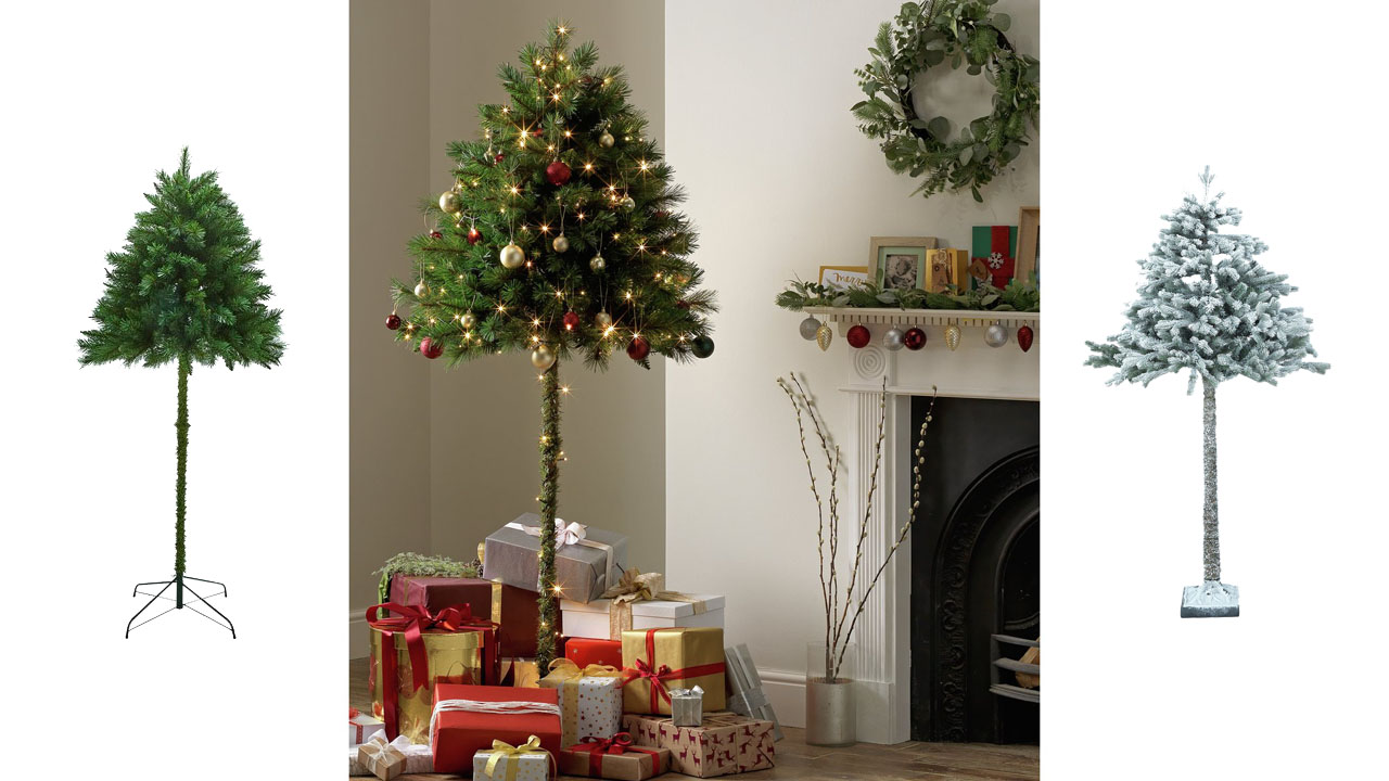 Retailer Argos says the top-only tree will keep your perfectly placed baubles, bows and bells out of reach of curious, crawling kids or your cats playful paws.