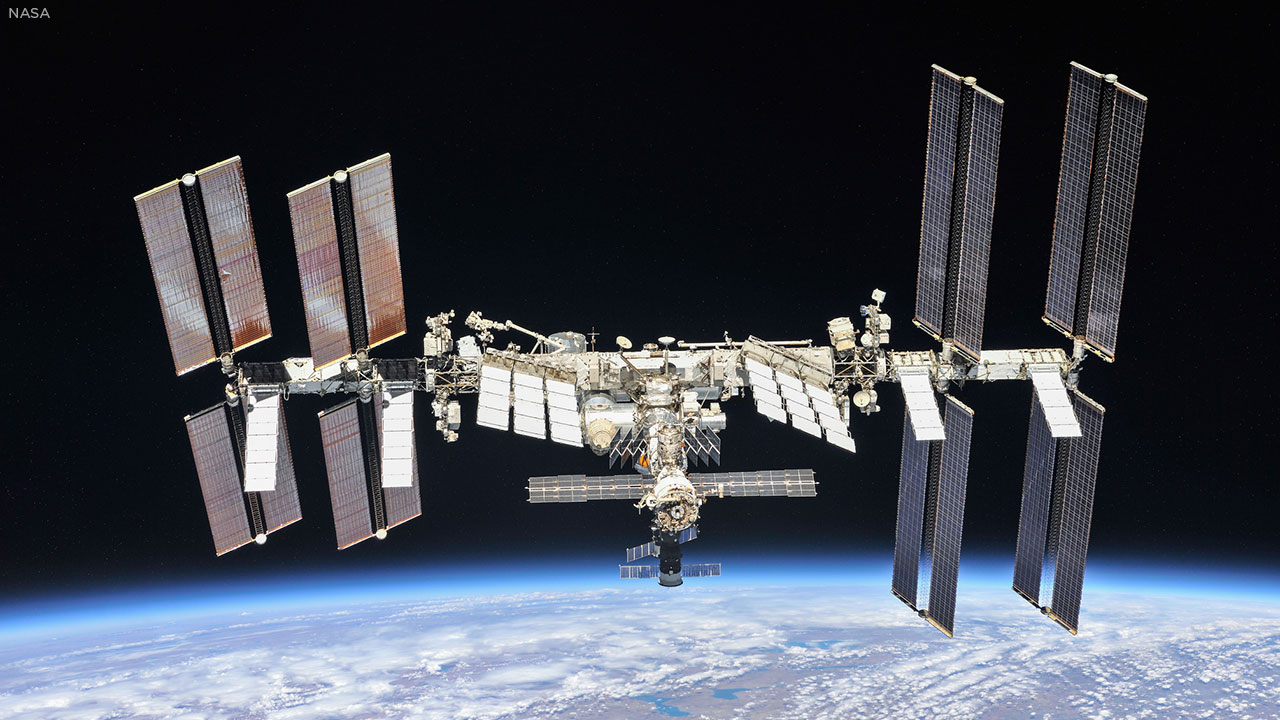 This October 2018 photo from NASA shows the International Space Station.
