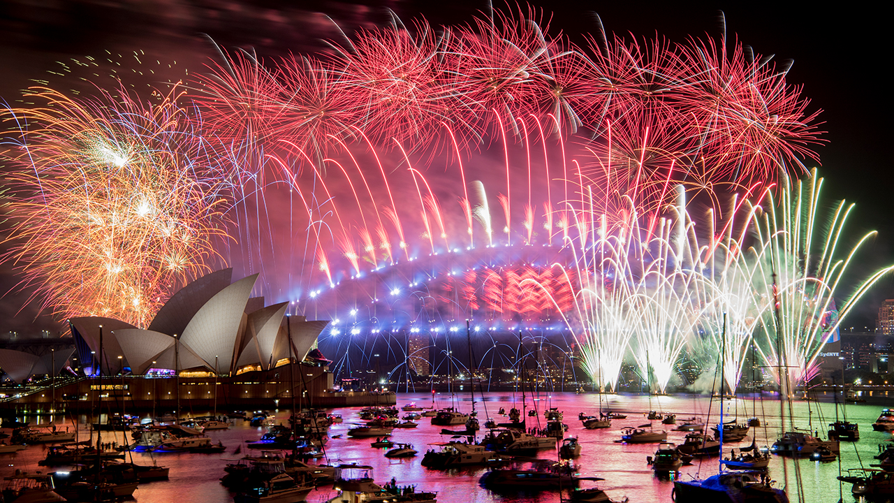 Fireworks explode over the Sydney Harbour during New Years Eve celebrations in Sydney, Tuesday, Jan. 1, 2019.