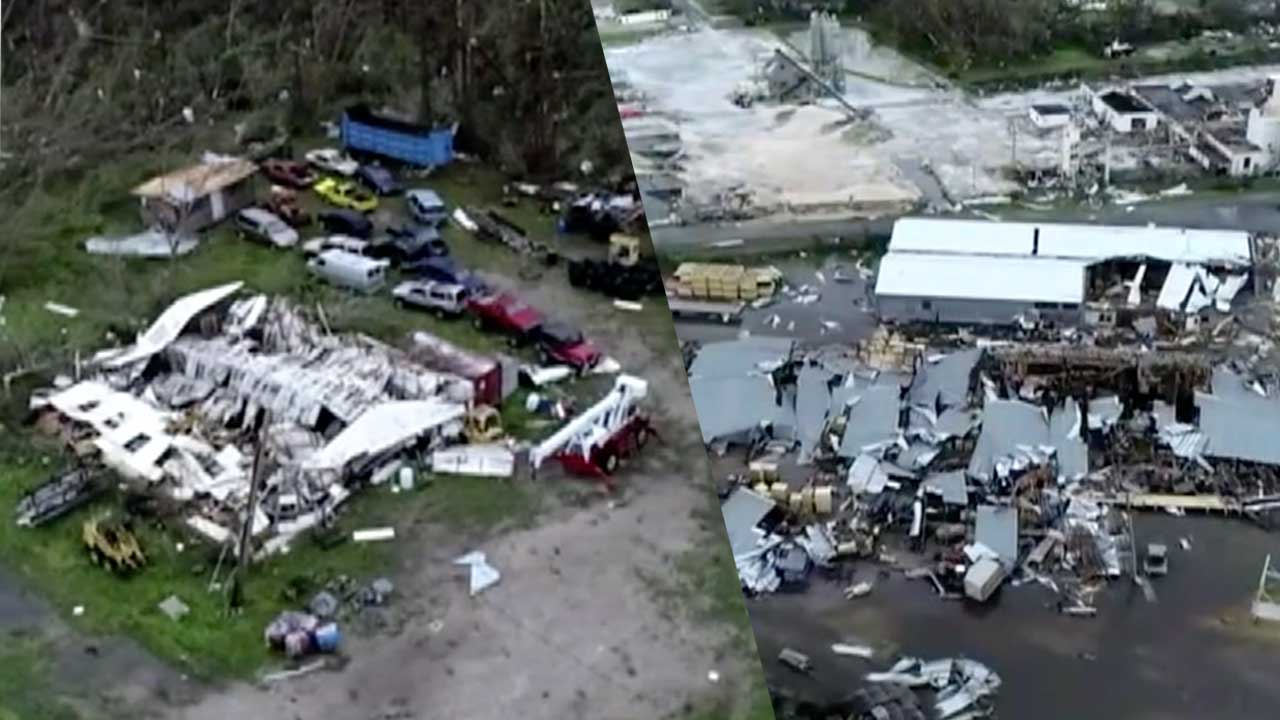 Hurricane Michael Drone Video Aerials Show Destroyed Buildings In - Panama city beach car show 2018