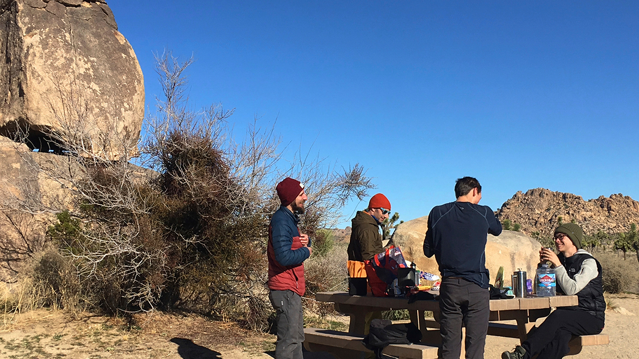 People visit Joshua Tree National Park in the southern California desert Thursday, Jan. 3, 2019.