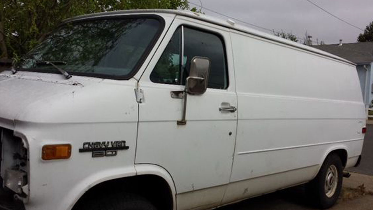 A photo sample of a cargo van Long Beach police are looking for is pictured above.