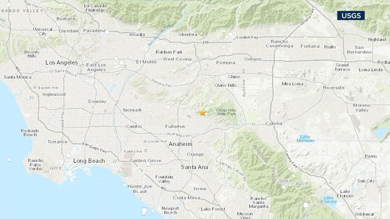Earthquake with 3.3 magnitude rattles Yorba Linda area