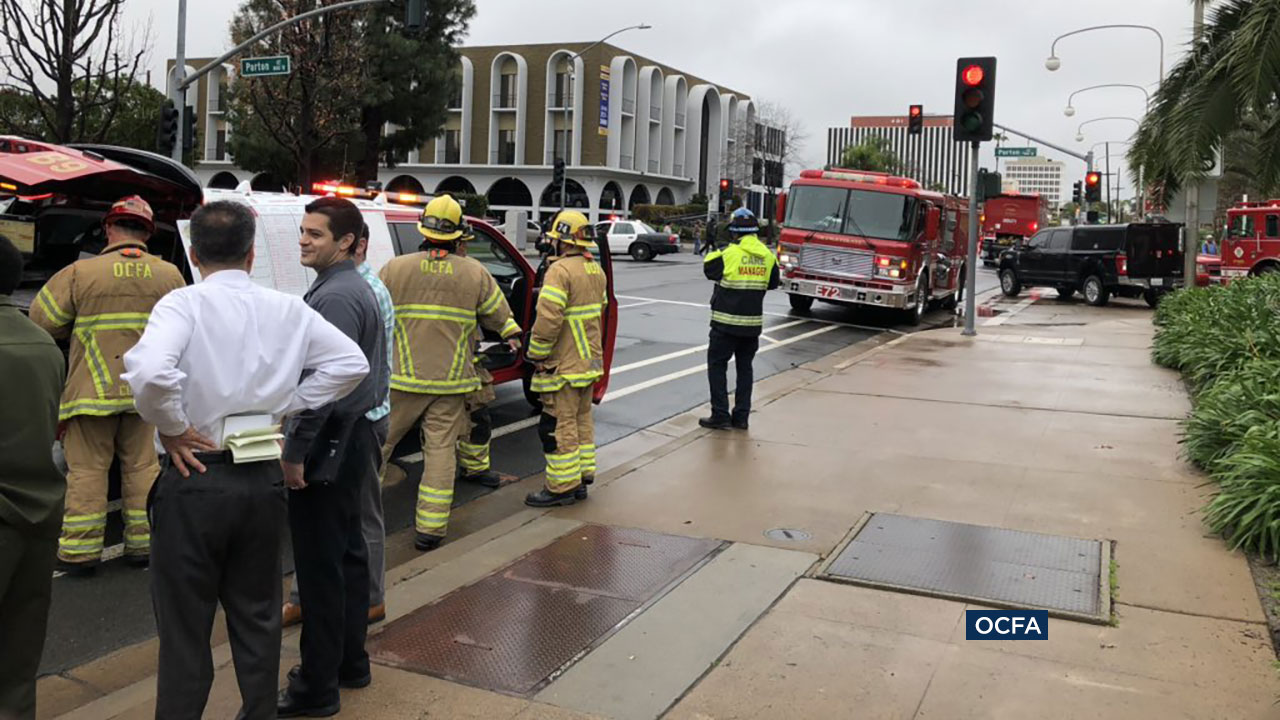 A hazmat team and bomb squad responded to the Santa Ana courthouse after at least three people needed medical attention possibly connected to a suspicious package.