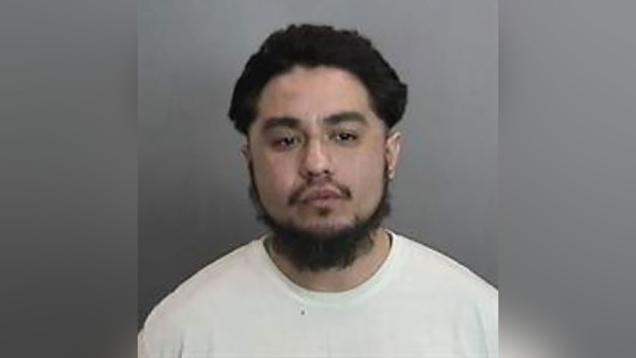 Luis Bautista, 29, is seen in a booking photo provided by Anaheim police.