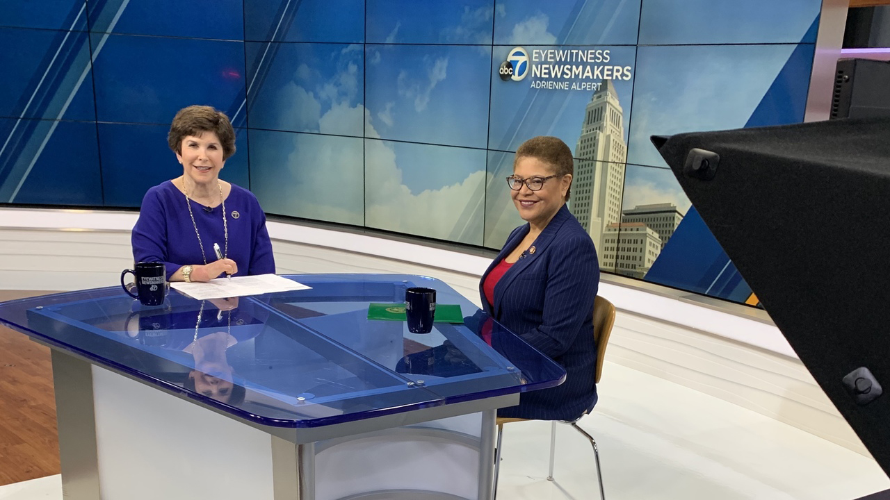 Rep. Karen Bass speaks on Eyewitness Newsmakers.