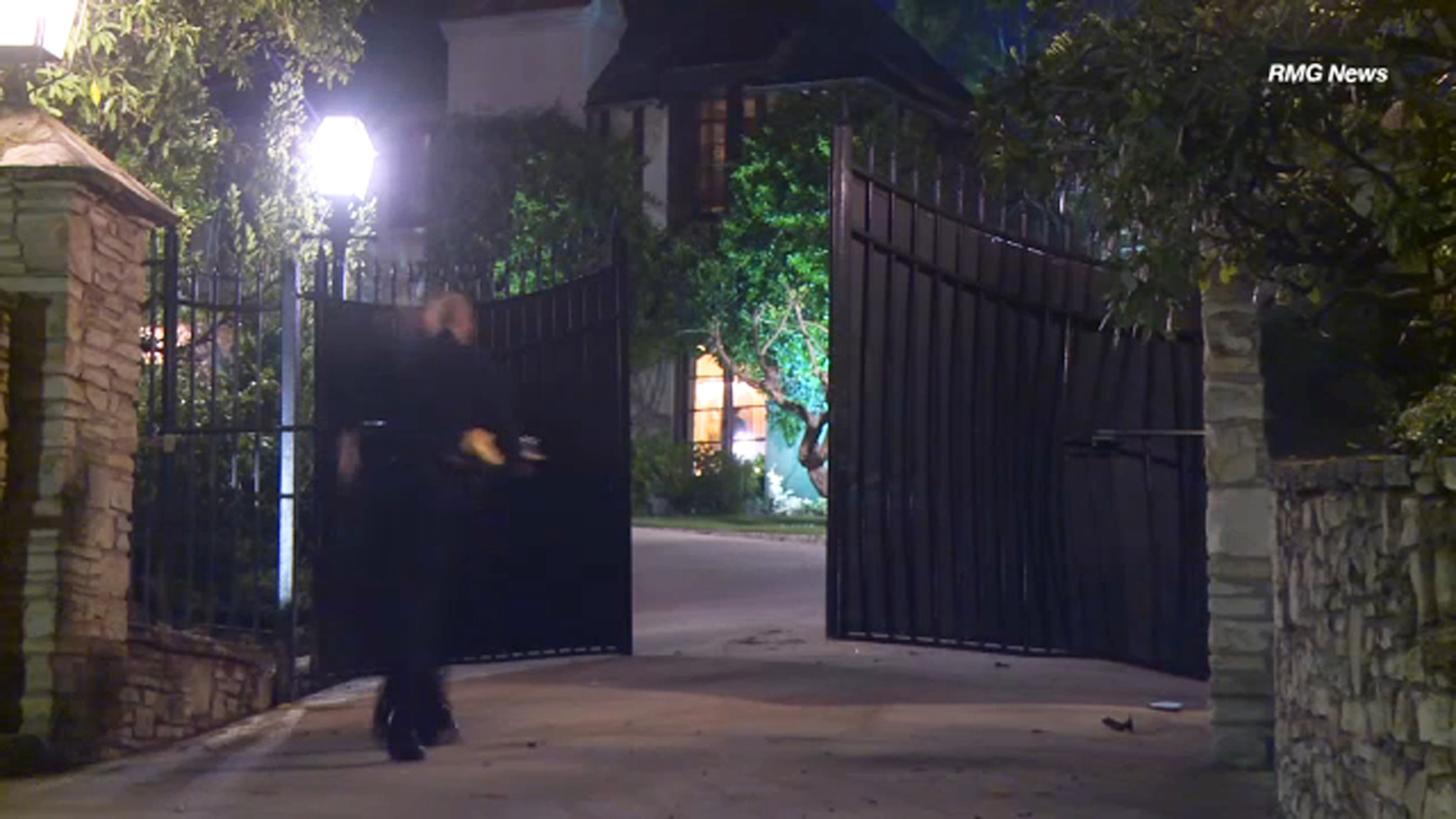 A 1,000-pound safe was stolen during a late-night break-in at a multimillion-dollar mansion in the Holmby Hills neighborhood of Los Angeles on Thursday, Jan. 31, 2019.
