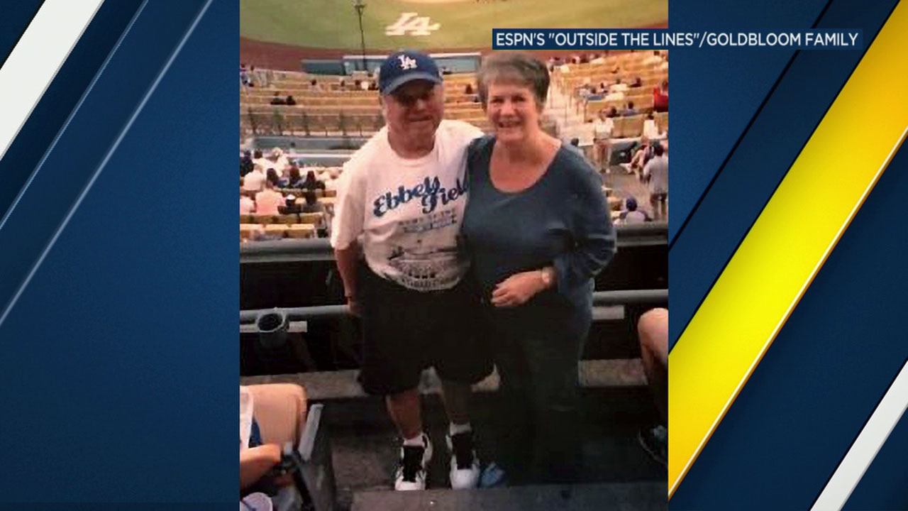 Linda Goldbloom, 79, is shown in a photo at Dodger Stadium.