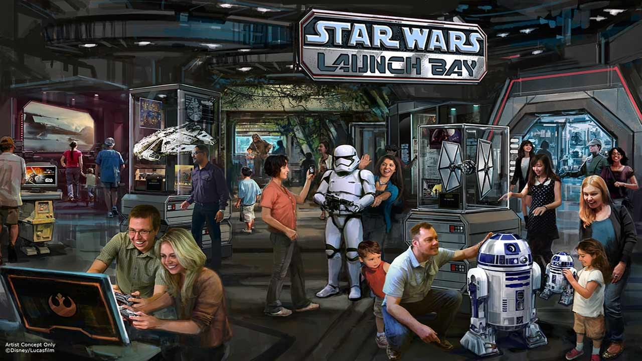 An image from Disney Parks shows the new Star Wars Launch Bay set to open Monday, Nov. 16, 2016.