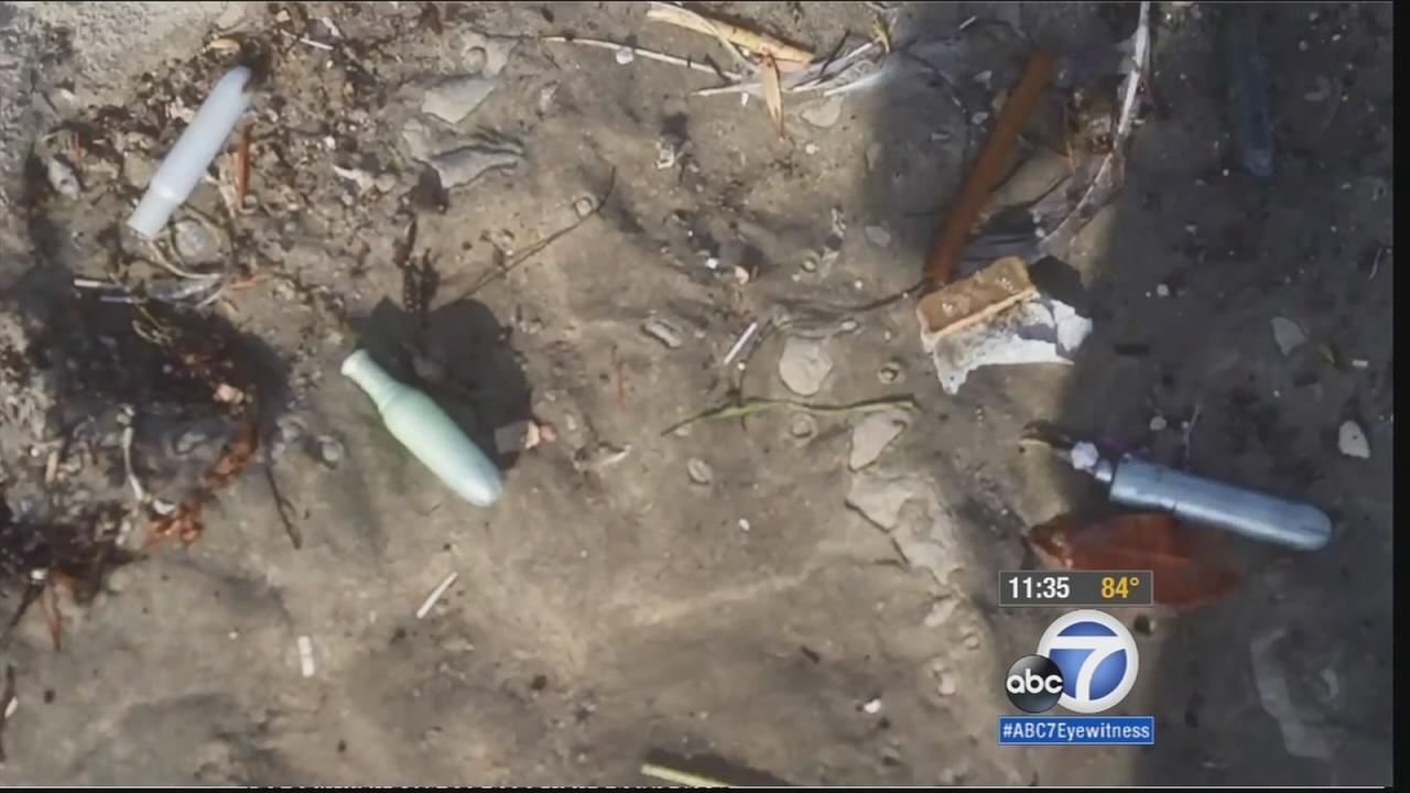 The Los Angeles County Department of Public Health reopened Dockweiler State Beach Saturday, Sept. 26, 2015, after medical waste washed ashore from a sewer pipe days before.