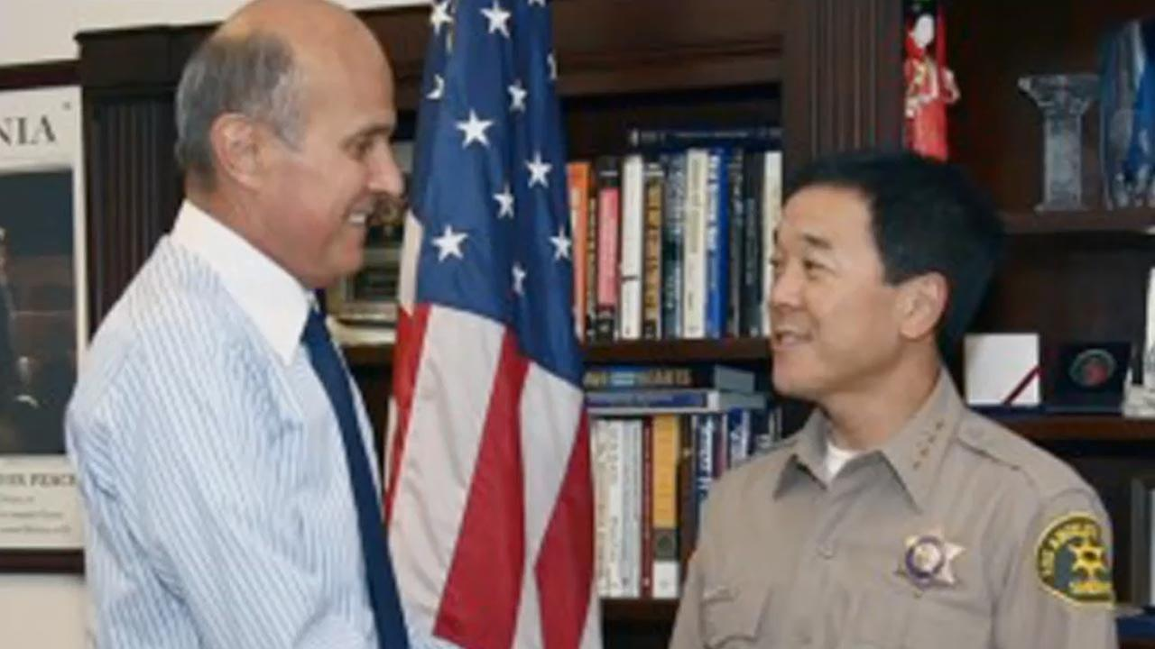 Former Los Angeles County Sheriff Lee Baca (left) and former Undersheriff Paul Tanaka in an undated file photo.