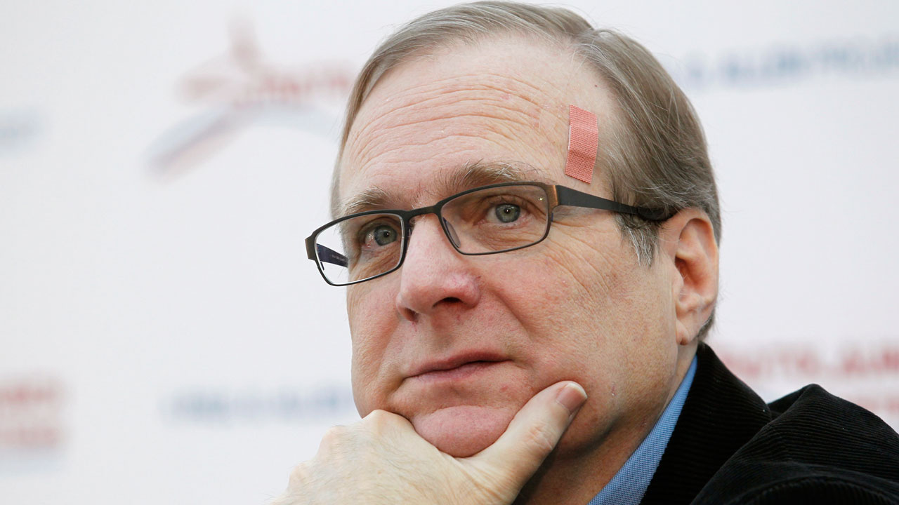 In this Dec. 13, 2011, file photo, Microsoft co-founder Paul Allen pauses at a news conference in Seattle.