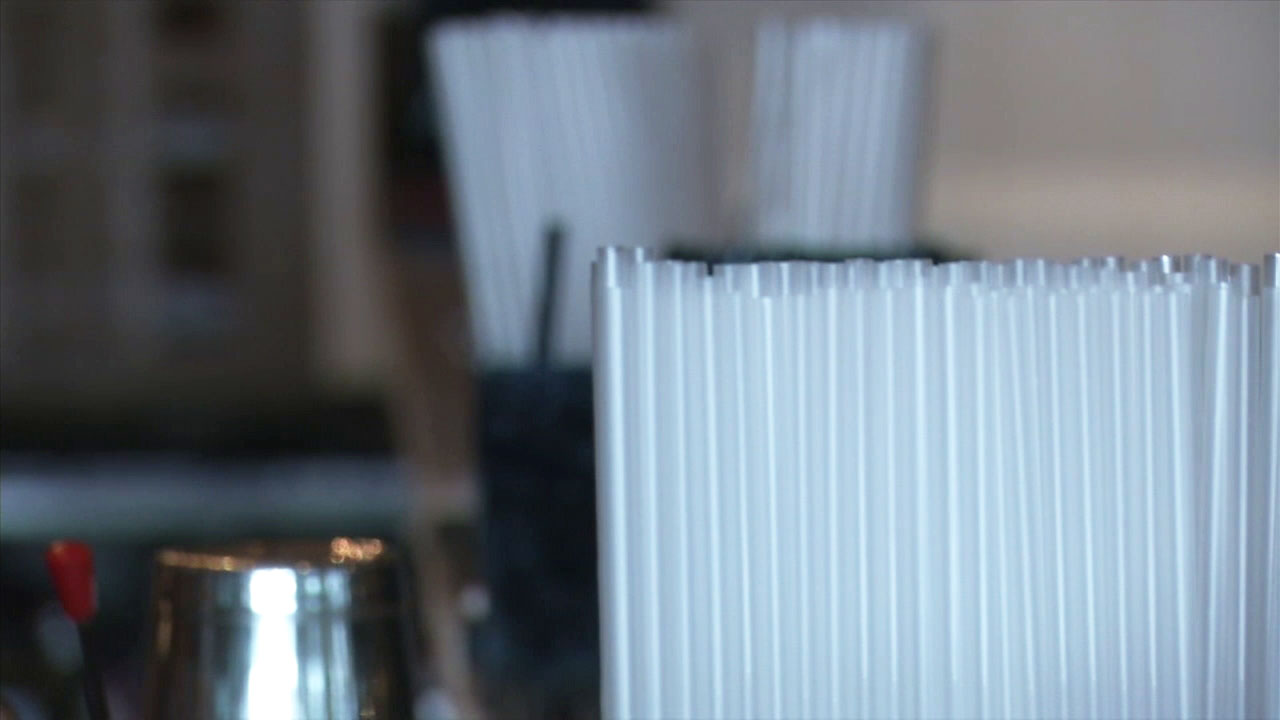 A file photo of plastic straws.