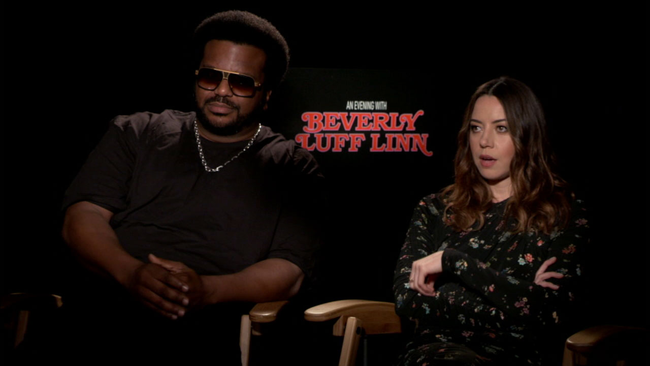 Craig Robinson and Aubrey Plaza star in the comedy An Evening with Beverly Luff Linn.