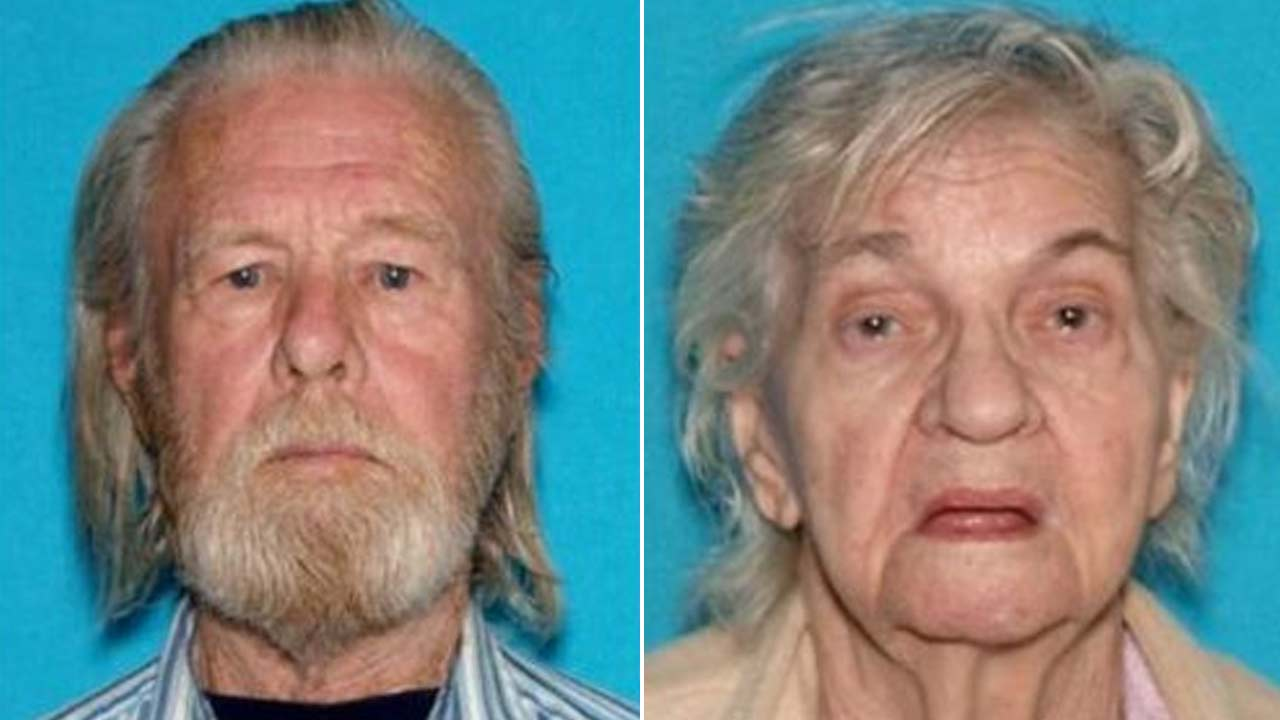 Keith Davis and Pauline Laura Davis are seen in DMV photos provided by the Los Angeles County Sheriffs Department.