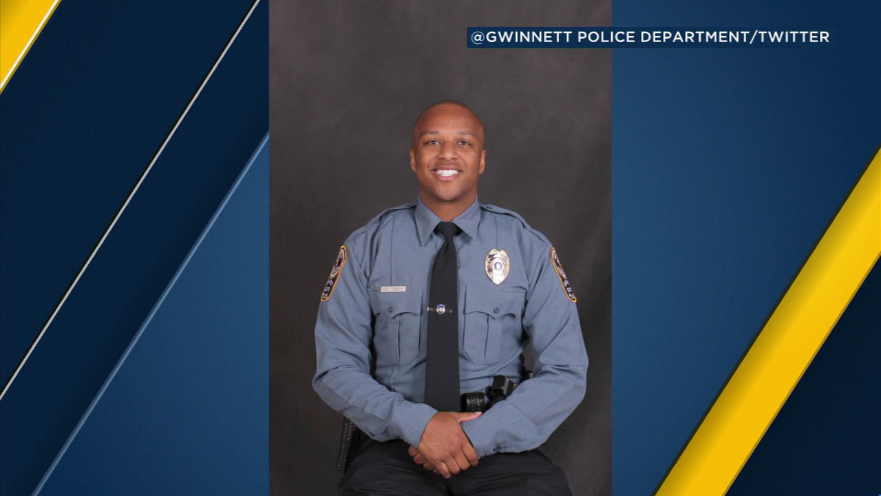 A photo of Gwinnett County Police Officer Antwan Toney, 30, who was fatally shot in Snellville, Georgia.