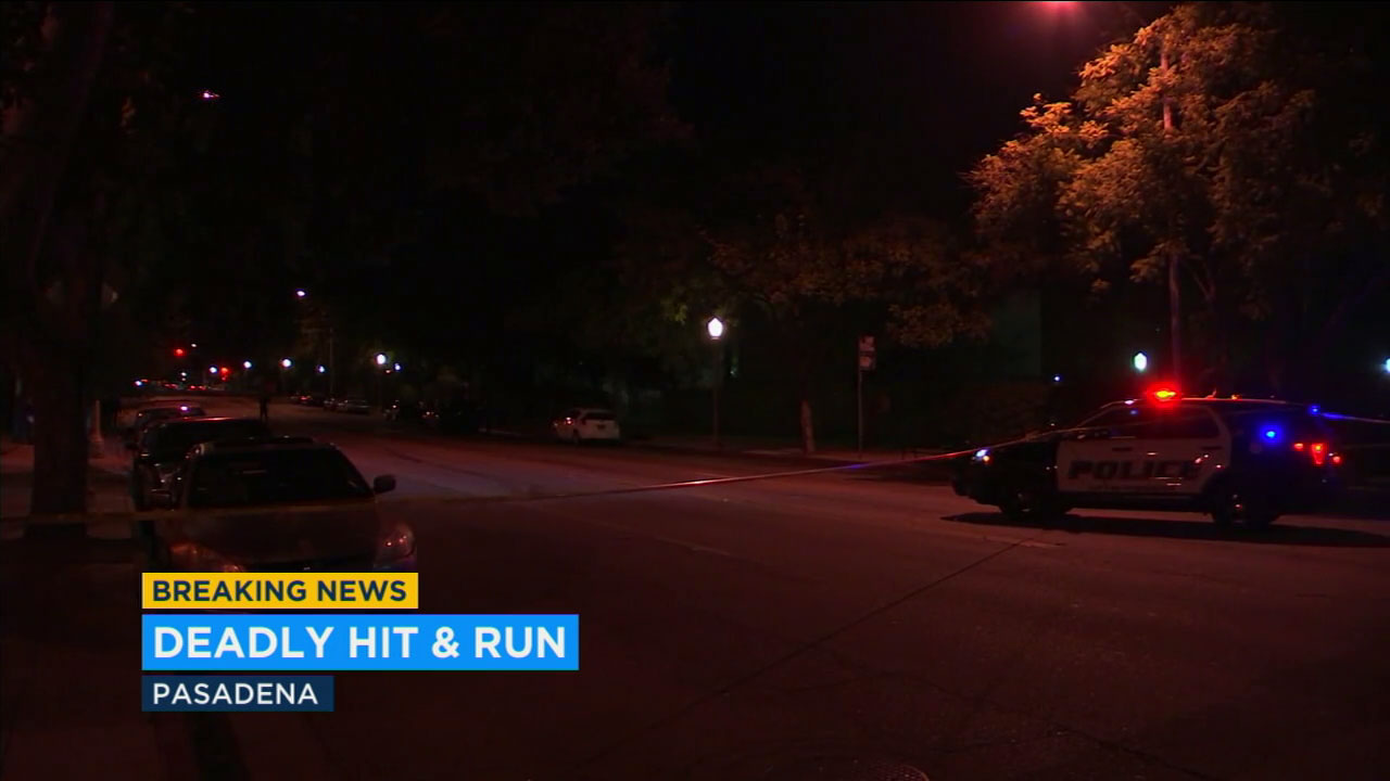 A woman was struck and killed by a hit-and-run driver in Pasadena Sunday night.