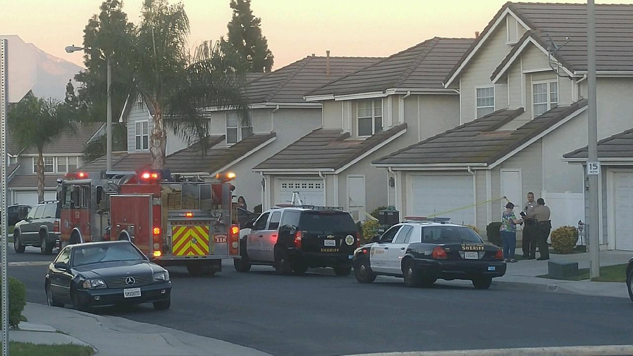 Authorities investigated the deaths of two adults in the 16600 block of Carriage Place in Hacienda Heights on Wednesday, Oct. 7, 2015.