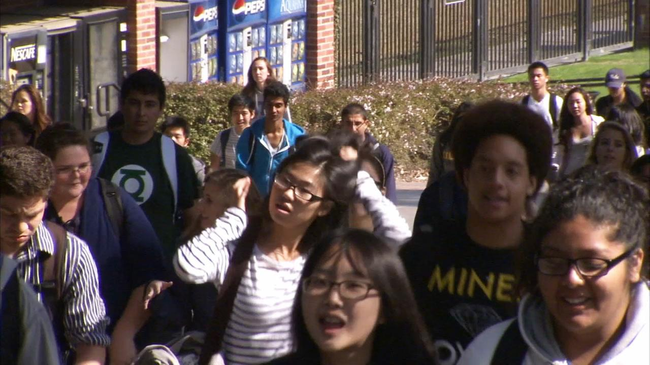 Students are seen on the University of California, Los Angeles campus.