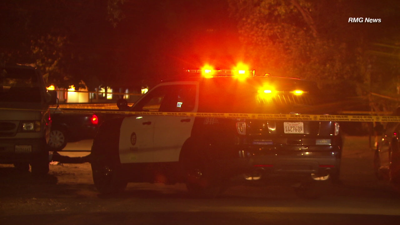 A man was shot and killed Tuesday night in in Woodland Hills, possibly during a carjacking, police said.