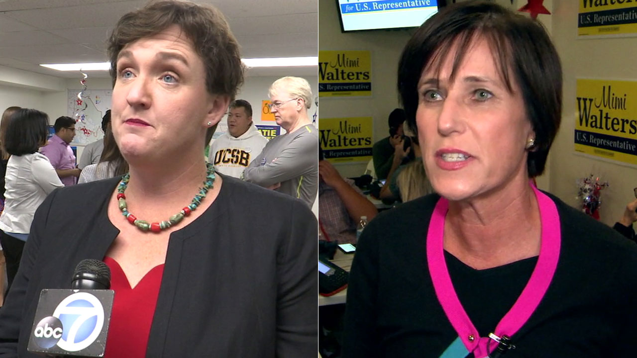 Republican congresswoman Mimi Walters (right) and Democratic challenger Katie Porter are locked in a tight race in Orange Countys 45th congressional district.