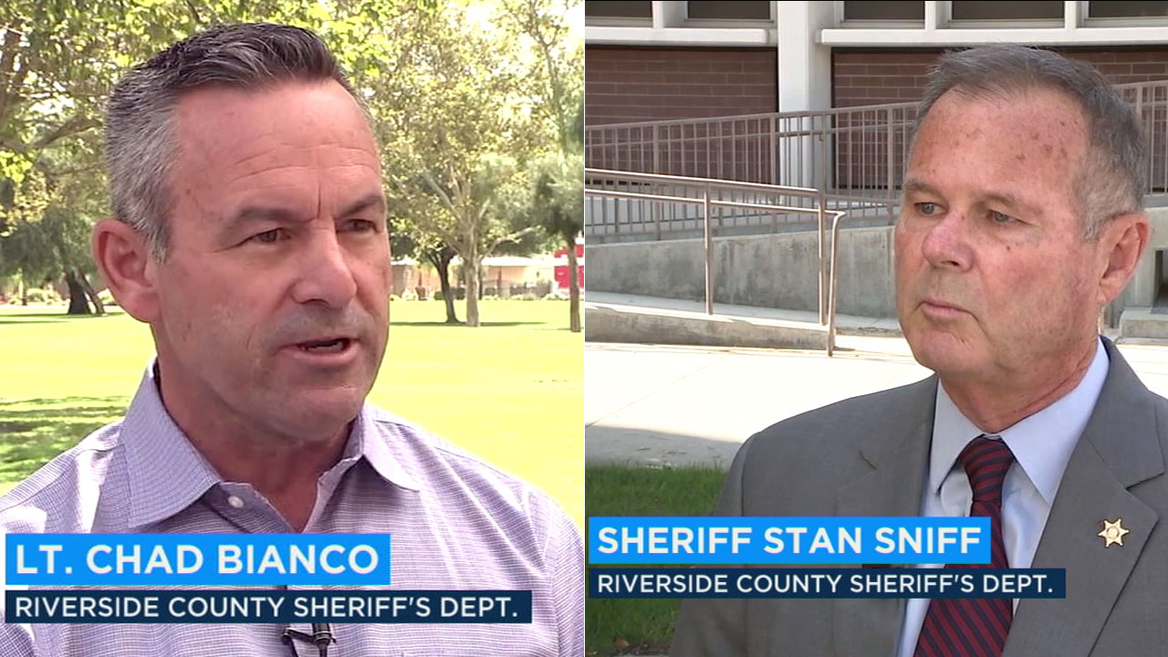 Riverside County Sheriff Stan Sniff is facing a tough election challenge from union-backed candidate Lt. Chad Bianco.