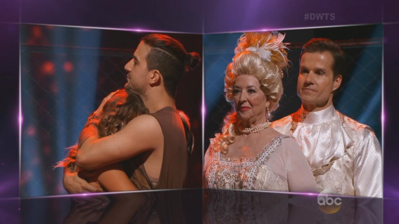 Alexa PenaVega, Mark Ballas, Paula Deen and Louis Van Amstel are seen during Week 6 of Dancing with the Stars on Monday, Oct. 19, 2015.