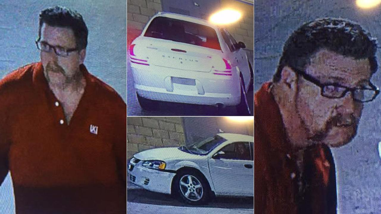 Police released images of a suspect wanted for a car break-in in Irvine. Police say the same man may be tied to thefts on the UC Irvine campus.