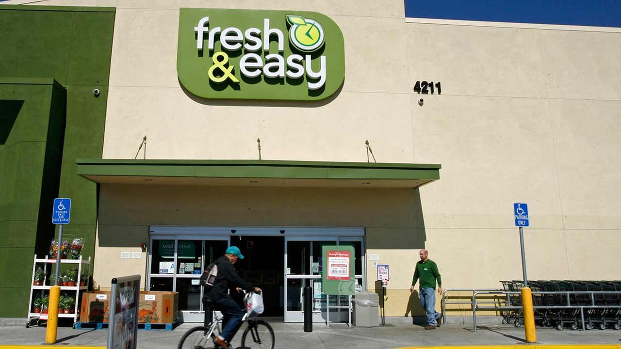 This is a Tuesday, Oct. 14, 2008 file photo of the Fresh and Easy Neighborhood Market in the Eagle Rock section of Los Angeles.