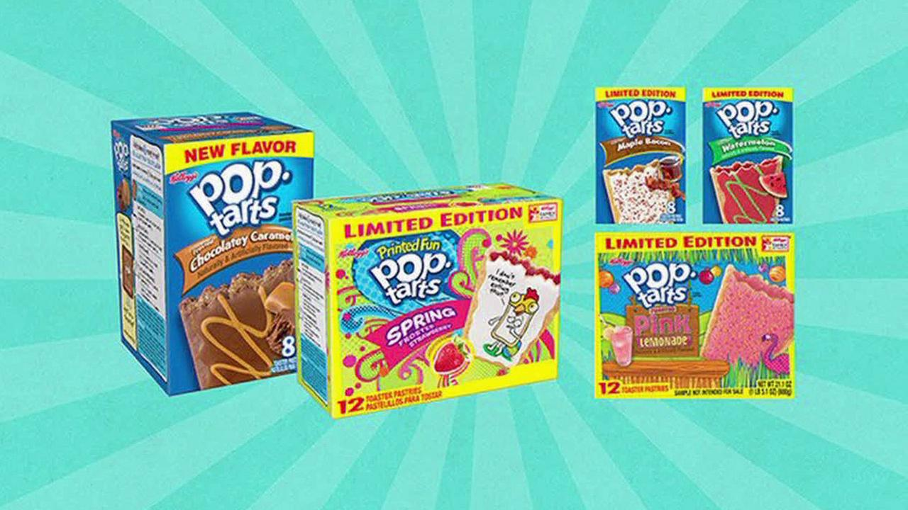 Five new flavors for Pop-Tarts are shown in an undated image.