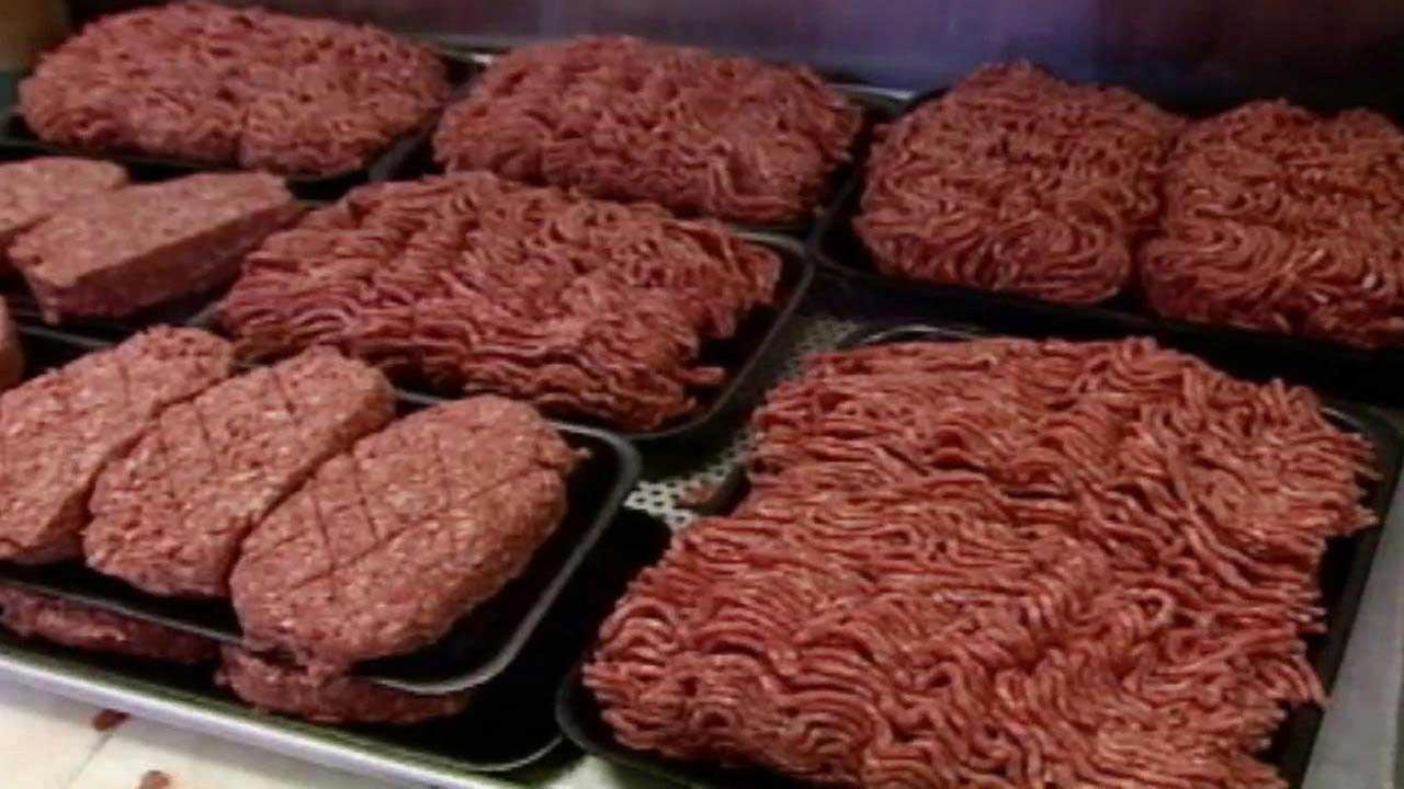 Ground beef is seen in this undated file photo.
