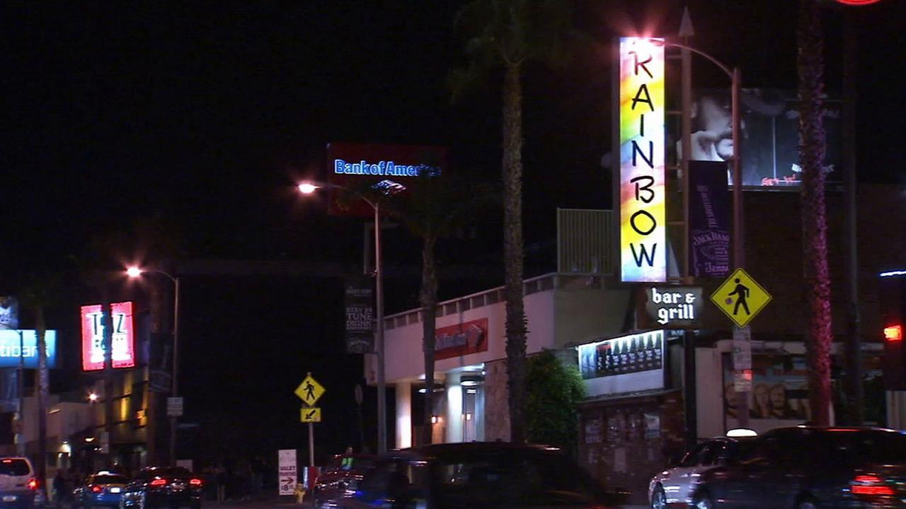 The Rainbow Bar and Grill, located on the Sunset Strip in West Hollywood, is shown in an undated file photo.