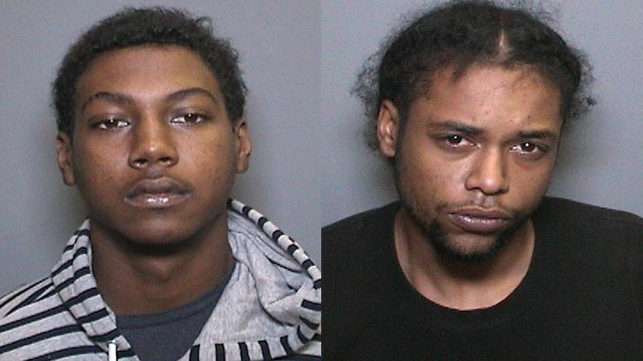Devan Howard (left) and Leon Tippit (right), who the Orange County Sheriffs Department said robbed Fredric H. Rubel Jewelers at The Shops at Mission Viejo on Oct. 21, 2015.