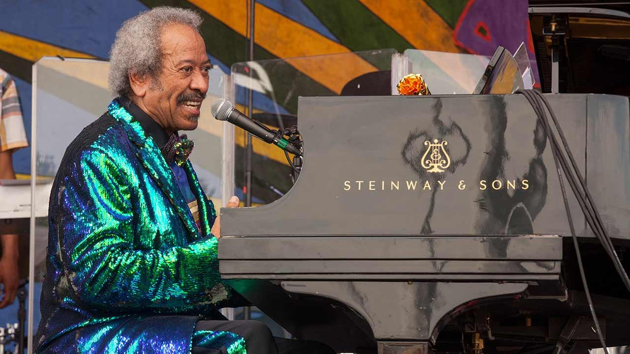 Allen Toussaint performs at the New Orleans Jazz and Heritage Festival, on Sunday, April 26, 2015 in New Orleans.