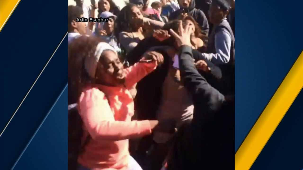 Cellphone video captured students at Hawthorne High School in a brawl Tuesday, Nov. 10, 2015.