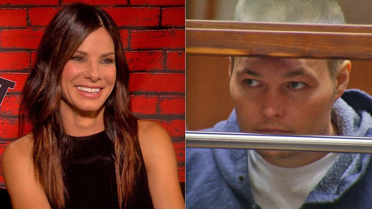 Left: Actress Sandra Bullock appears in this undated file photo. Right: Joshua James Corbett, who is accused of stalking Bullock, appears in court on June 10, 2014.