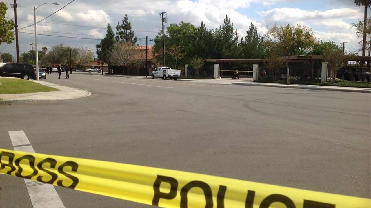A decomposing body was found inside a vehicle on Orange Way between Sierra and Mango avenues in Fontana on Sunday, Nov. 15, 2015.