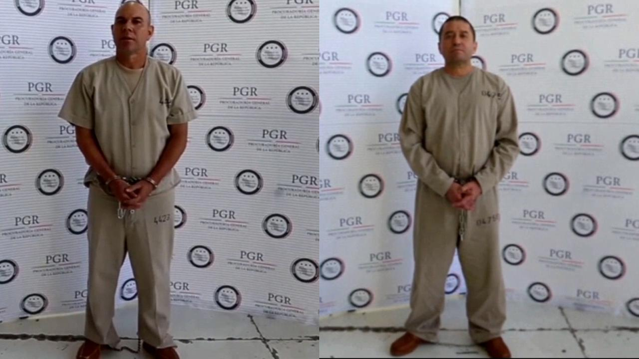 Cesar Gastelum Serrano (left) and Pedro Alejandro Rubio Perez (right), two suspected drug smugglers, have been extradited to the U.S.