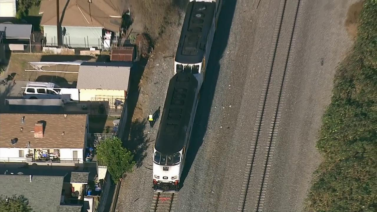 A person was killed after getting struck by a Metrolink train in El Monte on Monday, Nov. 30, 2015.