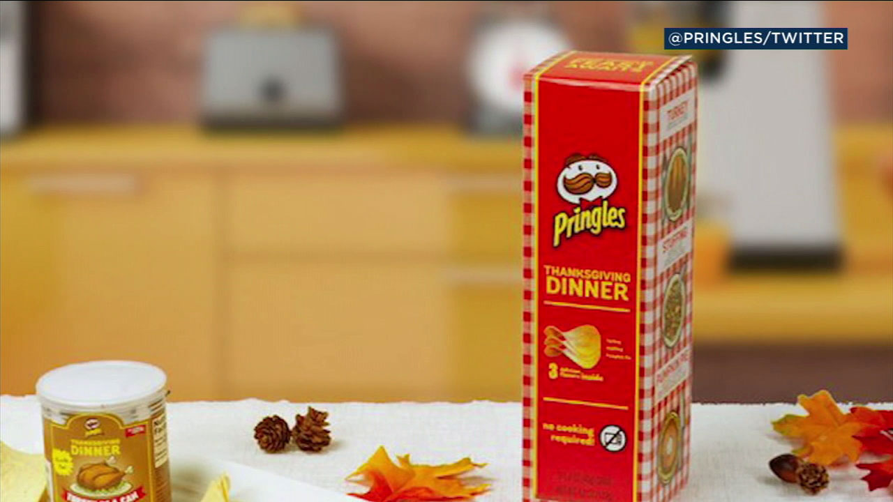 Pringles is rolling out three varieties of Thanksgiving-flavored chips.
