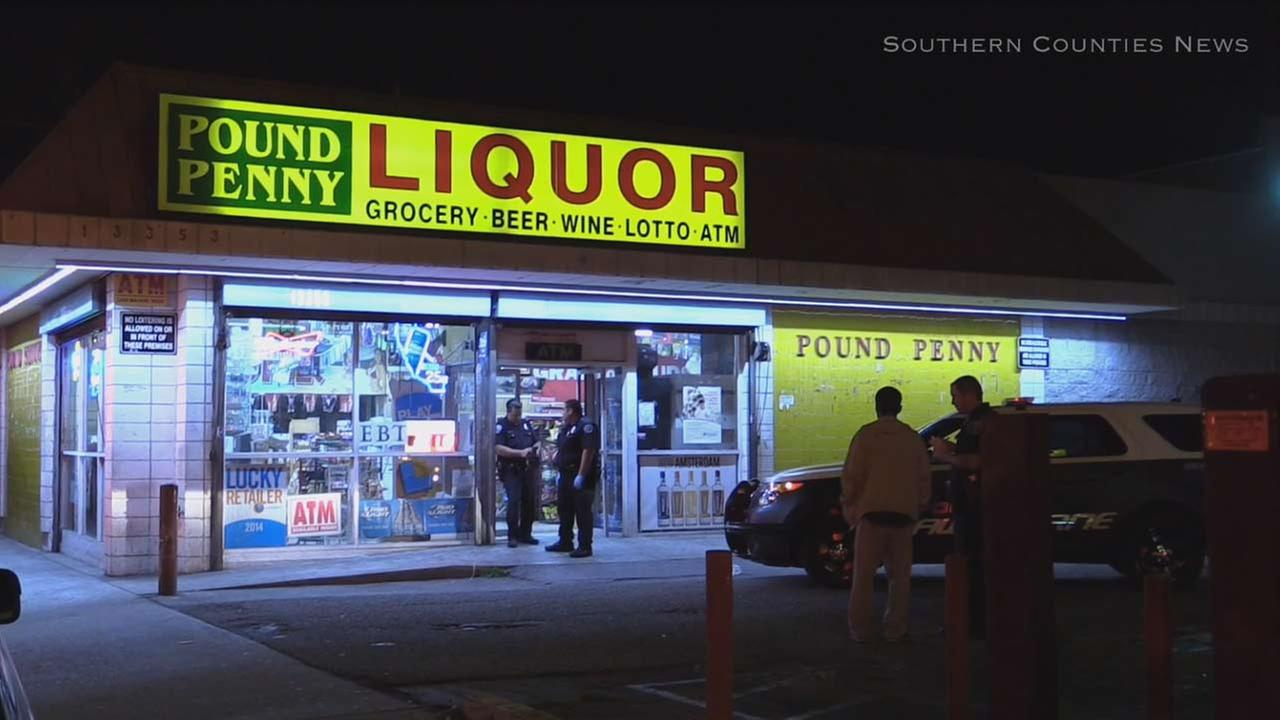 Two Hawthorne mini mart clerks were injured in a vicious attack by two suspects who remain at large.