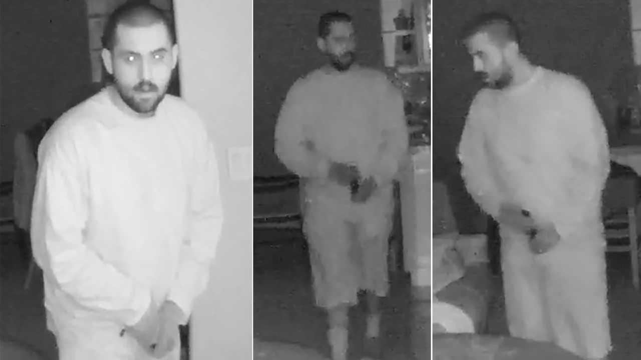 Surveillance photos show a male burglar inside a residence in the 3600 block of Ocean Drive in Oxnard on Sunday, Nov. 29, 2015.