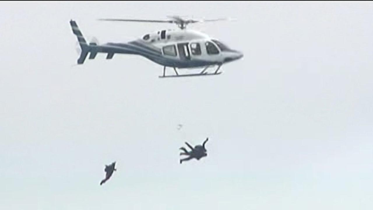 Former President George H.W. Bush celebrated his 90th birthday in style on Thursday, June 12, 2014: He jumped out of a helicopter.
